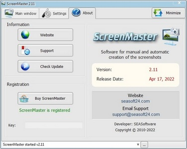 ScreenMaster - secret screen recorder